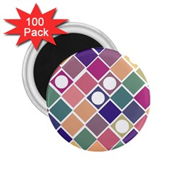 Dots And Squares 2 25  Magnets (100 Pack)  by Kathrinlegg