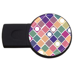 Dots And Squares Usb Flash Drive Round (2 Gb)  by Kathrinlegg