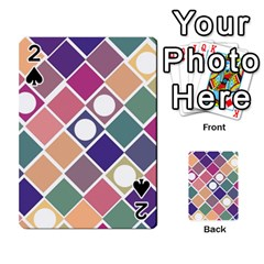 Dots And Squares Playing Cards 54 Designs  by Kathrinlegg