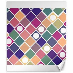 Dots And Squares Canvas 8  X 10