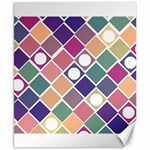 Dots and Squares Canvas 8  x 10  10.02 x8  Canvas - 1