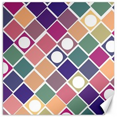 Dots And Squares Canvas 20  X 20   by Kathrinlegg