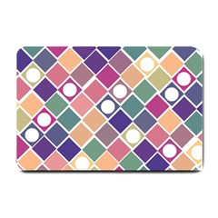 Dots And Squares Small Doormat  by Kathrinlegg