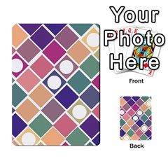 Dots And Squares Multi Purpose Cards (rectangle)  by Kathrinlegg