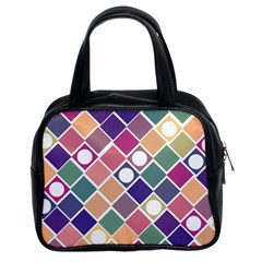 Dots And Squares Classic Handbags (2 Sides) by Kathrinlegg