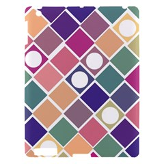 Dots And Squares Apple Ipad 3/4 Hardshell Case by Kathrinlegg