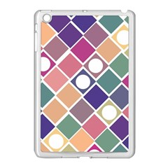 Dots And Squares Apple Ipad Mini Case (white) by Kathrinlegg