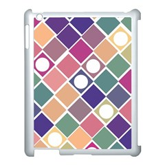 Dots And Squares Apple Ipad 3/4 Case (white) by Kathrinlegg