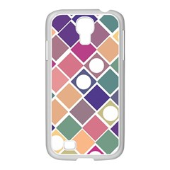 Dots And Squares Samsung Galaxy S4 I9500/ I9505 Case (white)