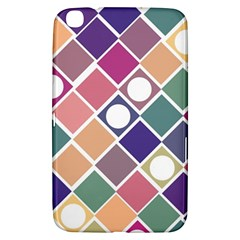 Dots And Squares Samsung Galaxy Tab 3 (8 ) T3100 Hardshell Case  by Kathrinlegg
