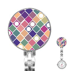 Dots And Squares Stainless Steel Nurses Watches by Kathrinlegg