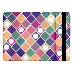 Dots And Squares Samsung Galaxy Tab Pro 12 2  Flip Case by Kathrinlegg