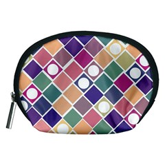 Dots And Squares Accessory Pouches (medium)  by Kathrinlegg