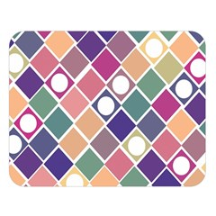 Dots And Squares Double Sided Flano Blanket (large)  by Kathrinlegg