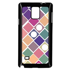 Dots And Squares Samsung Galaxy Note 4 Case (black) by Kathrinlegg