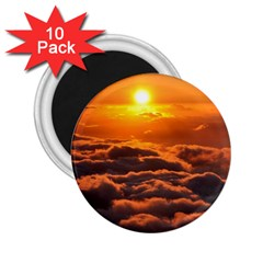 Sunset Over Clouds 2 25  Magnets (10 Pack)  by trendistuff