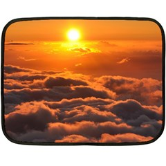 Sunset Over Clouds Double Sided Fleece Blanket (mini)  by trendistuff