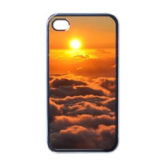 Sunset Over Clouds Apple Iphone 4 Case (black) by trendistuff