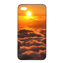 Sunset Over Clouds Apple Iphone 4/4s Seamless Case (black) by trendistuff