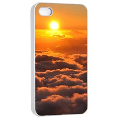 Sunset Over Clouds Apple Iphone 4/4s Seamless Case (white) by trendistuff