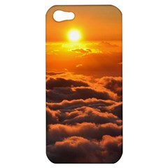 Sunset Over Clouds Apple Iphone 5 Hardshell Case by trendistuff
