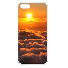 Sunset Over Clouds Apple Iphone 5 Seamless Case (white)