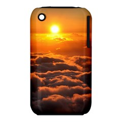 Sunset Over Clouds Apple Iphone 3g/3gs Hardshell Case (pc+silicone) by trendistuff