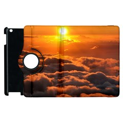 Sunset Over Clouds Apple Ipad 3/4 Flip 360 Case by trendistuff