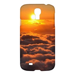 Sunset Over Clouds Samsung Galaxy S4 I9500/i9505 Hardshell Case by trendistuff