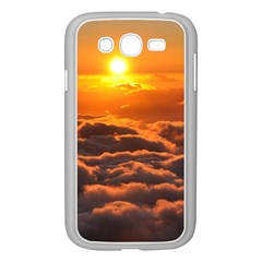 Sunset Over Clouds Samsung Galaxy Grand Duos I9082 Case (white) by trendistuff