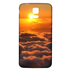 Sunset Over Clouds Samsung Galaxy S5 Back Case (white) by trendistuff