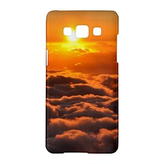 Sunset Over Clouds Samsung Galaxy A5 Hardshell Case  by trendistuff
