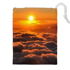 Sunset Over Clouds Drawstring Pouches (xxl) by trendistuff