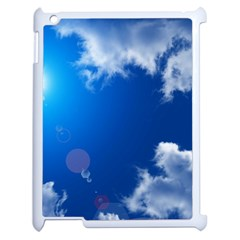 Sun Sky And Clouds Apple Ipad 2 Case (white) by trendistuff