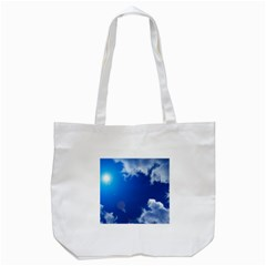 Sun Sky And Clouds Tote Bag (white)  by trendistuff