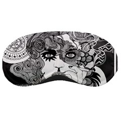 Vintage Smoking Woman Sleeping Mask by DryInk