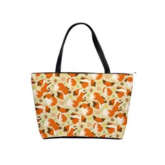 Curious Maple Fox Large Shoulder Bag by Ellador