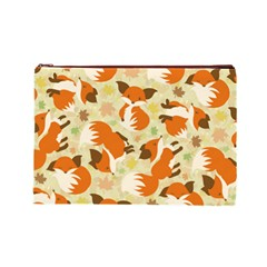 Curious Maple Fox Cosmetic Bag (large)