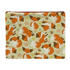 Curious Maple Fox Cosmetic Bag (xl)