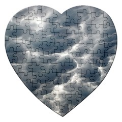 Storm Clouds 2 Jigsaw Puzzle (heart) by trendistuff