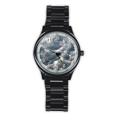 Storm Clouds 2 Stainless Steel Round Watches by trendistuff