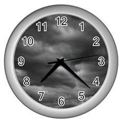 Storm Clouds 1 Wall Clocks (silver)  by trendistuff