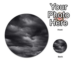Storm Clouds 1 Multi Purpose Cards (round)  by trendistuff