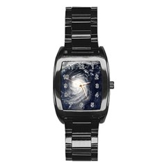 Hurricane Irene Stainless Steel Barrel Watch by trendistuff