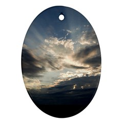 Heaven Rays Oval Ornament (two Sides) by trendistuff