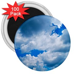 Cumulus Clouds 3  Magnets (100 Pack) by trendistuff
