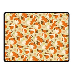Curious Maple Fox Double Sided Fleece Blanket (small) by Ellador