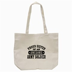 Proud Army Soldier Sister Tote Bag (cream)  by allthingseveryday