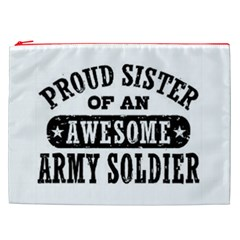 Proud Army Soldier Sister Cosmetic Bag (xxl) by allthingseveryday