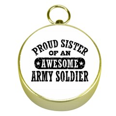 Proud Army Soldier Sister Gold Compasses by allthingseveryday